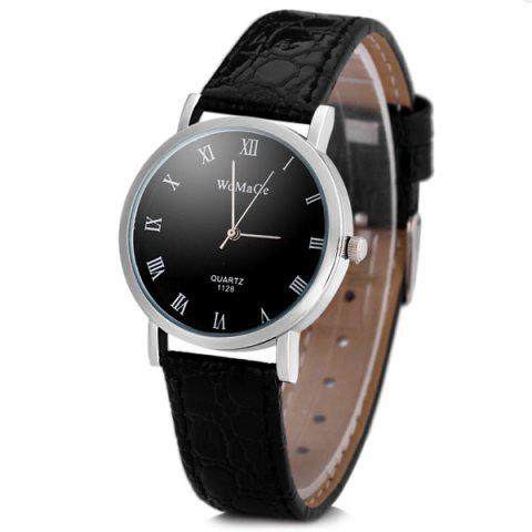 Buy Womage 1128 Fashionable Quartz Watch Round Dial Leather Watchband Women