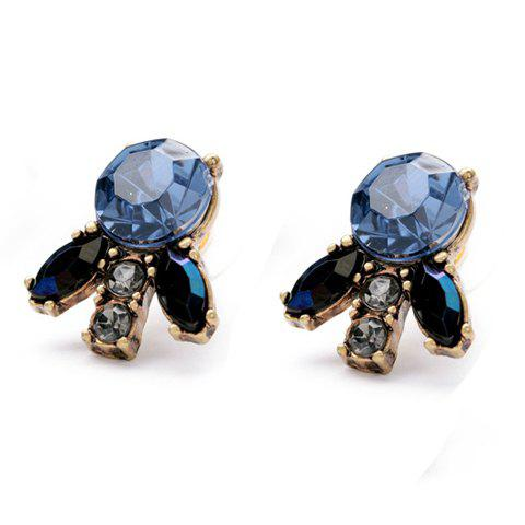 Discount Pair of Chic Gemstone Embellished Women's Earrings