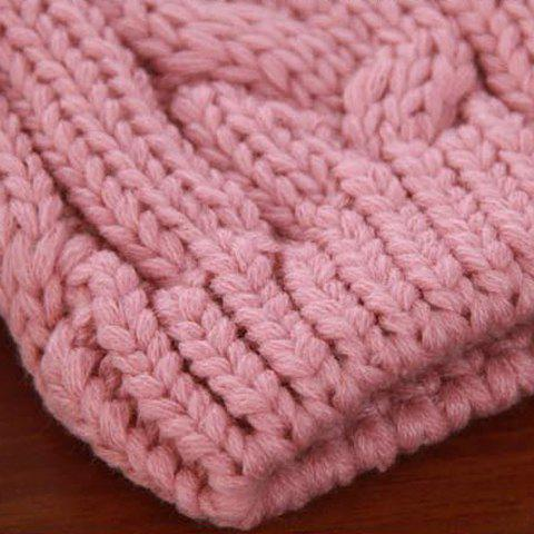 Store Fuzzy Ball Buttons Knitted Hemp Toboggan Hat - ONE SIZE COLOR ASSORTED Mobile