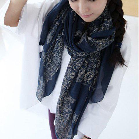 Buy online Floral Print Silk Scarf For Women