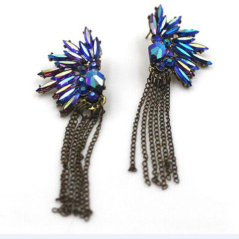 Store Pair of Beads Rhinestone Fringed Drop Earrings - COLORMIX  Mobile