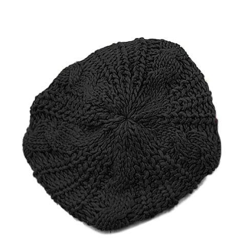 Shop Acrylic Crochet Beret Hat COLOR ASSORTED