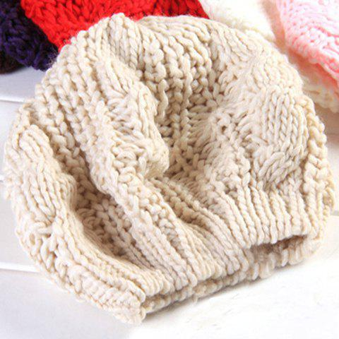 Chic Women's Solid Color Knitting Beret Hat от Rosegal.com INT
