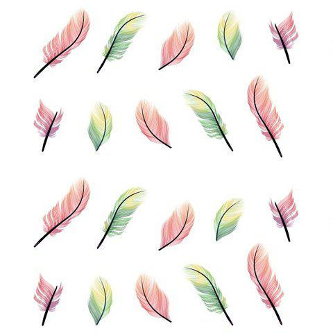 One Piece Hot Sale Mixed Feather Pattern Nail Art Sticker от Rosegal.com INT