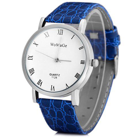 Outfits WoMaGe 1128 Quartz Watch Round Dial Leather Watchband for Men