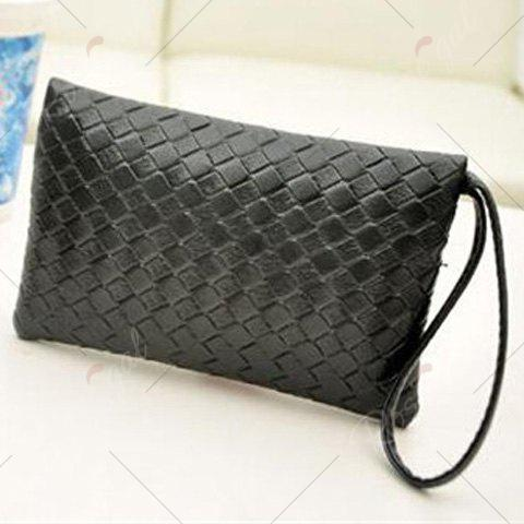 Fashion Weaving and Zip Design Women's Day Clutch от Rosegal.com INT