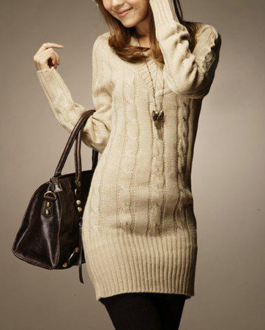 Fancy Longline V Neck Sweater