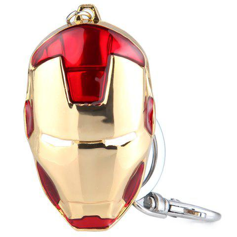 Discount Iron Man Head Mask Pendant Brass Belt Key Chain - RED  Mobile