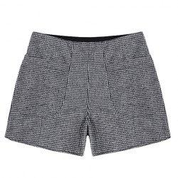 Vintage High Waist Plaid Pocket Shorts For Women -