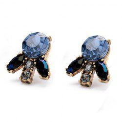 Pair of Chic Gemstone Embellished Women's Earrings -