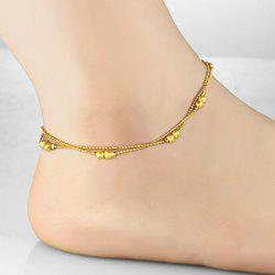 Chic Women's Beads Link Fancy Anklets - GOLDEN