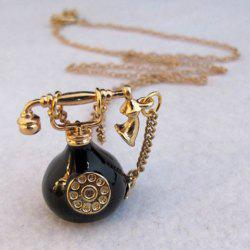 Telephone Shape Pendant Sweater Chain