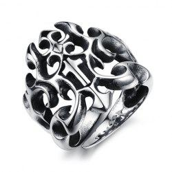 Stylish Solid Color Openwork Ring For Men -