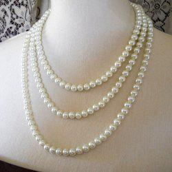 Elegant Faux Pearl Embellished Necklace For Women -