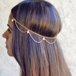 Chic Faux Pearl Embellished Women's Hairband -