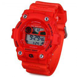 8951 Military LED Sports Watch Month Date Week Colorful Light Alarm