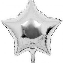 Aluminium Film Balloon Star Pattern for Christmas Decoration Festival Ornament - SILVER