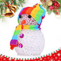 Snowman Christmas Gift Christmas Tree Decoration with Changing Light Color -