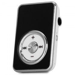 Rectangle Crystal Style Mini MP3 Player with Back Clip SD Card Slot USB Interface