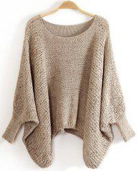 Dolman Sleeve Loose-Fitting Sweater -