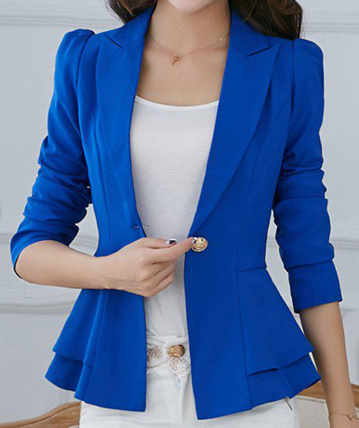 Hot Stylish Lapel Long Sleeve Solid Color One-Button Women's Blazer