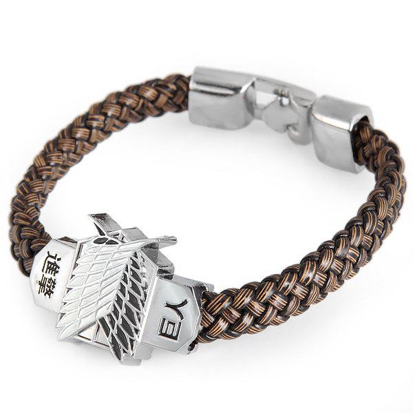 Chic Attack on Titan Leather Bracelet