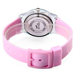 Red-crowned Crane Pattern Female Quartz Watch Round Dial Plastic Watchband - PINK