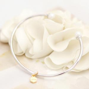 Simple Women's Faux Pearl Embellished Bracelet -