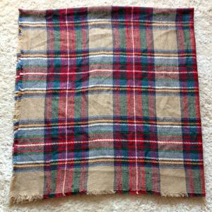 Classical Tartan Design Scarf For Women -