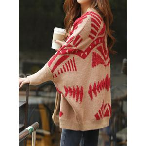 Stylish Pattern-Knit Dolman Sleeve Cardigan For Women -