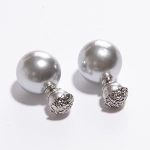 Pair of Women's Shining Pearl Embellished Earrings