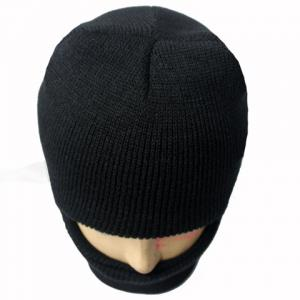 Balaclava Mask Windproof Solid Color Outdoor Sports Knitted Hat For Men and Women -