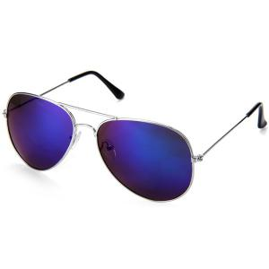 Fashionable UV400 Metal Frame PC Sunglasses Eyewear Retro Eyes Protector Outdoor Activities Leisure Necessaries - Purple - 40
