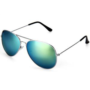 Fashionable UV400 Metal Frame PC Sunglasses Eyewear Retro Eyes Protector Outdoor Activities Leisure Necessaries - Green - M
