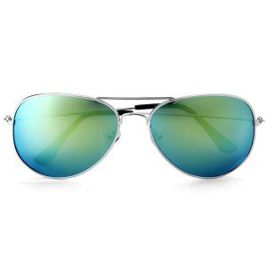 Fashionable UV400 Metal Frame PC Sunglasses Eyewear Retro Eyes Protector Outdoor Activities Leisure Necessaries - GREEN