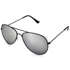 Fashionable UV400 Metal Frame PC Sunglasses Eyewear Retro Eyes Protector Outdoor Activities Leisure Necessaries - Silver - M