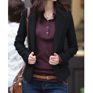 Stylish Long Sleeve Lapel Solid Color One-Button Women's Jacket Blazer - Black - L