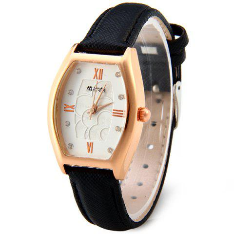 Buy Mitina M-227 Japan Quartz Movtz Diamond Ladies Watch Hexagon Dial Leather Strap