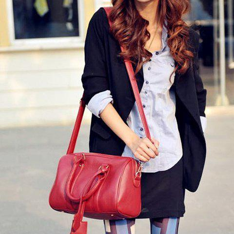 Street Style Solid Color and PU Leather Design Women's Shoulder Bag от Rosegal.com INT