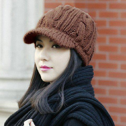 Fashion Braid Pattern Knitted Hat For Women Hats | RoseGal.com
