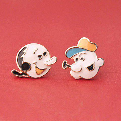Cheap Character Portrait Shape Earrings