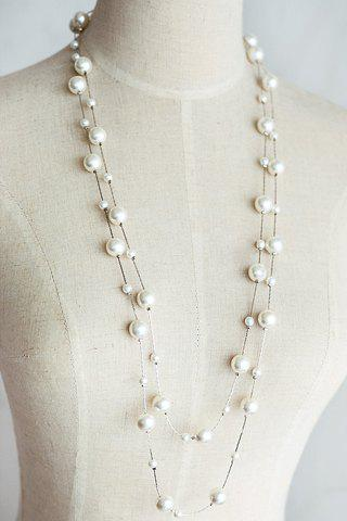 Outfit Sweet Women's Pearl Layered Sweater Chain Necklace