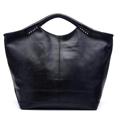 Store Casual Sticthing Design Women's Black Tote Bag