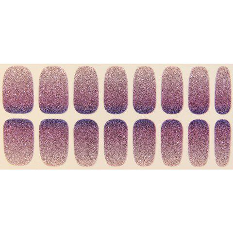 One Piece Simple Glitter Powder Gradient Color Nail Art Sticker от Rosegal.com INT