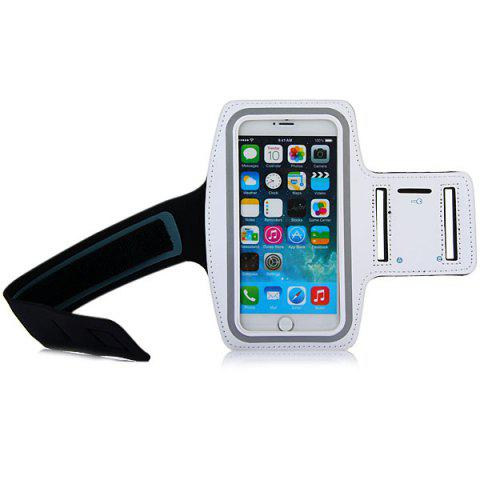 Outfits Dual Holes Sports Soft Tactility Durable Armband Holder Pouch Lycra Protective Case for iPhone 6 Plus - 5.5 inches