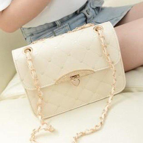 Fashion Metallic Hasp and Checked Design Women's Shoulder Bag от Rosegal.com INT