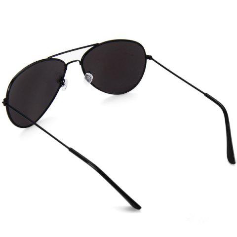 Cheap Fashionable UV400 Metal Frame PC Sunglasses Eyewear Retro Eyes Protector Outdoor Activities Leisure Necessaries - SILVER  Mobile