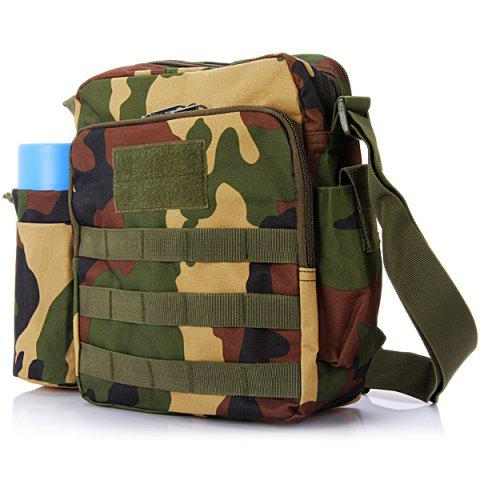 Cheap High Quality Water Bottle Single Shoulder Bag Cross Body Sundries Pack Practical Travel Camping Cycling Hiking Accessories - JUNGLE CAMOUFLAGE  Mobile