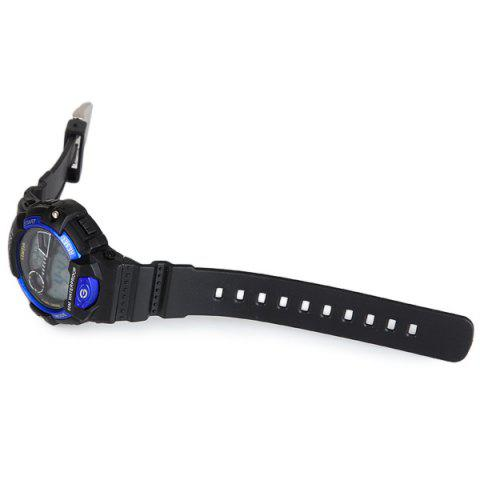 Sale iTaiTek 816 Military LED Watch Date Week Alarm Chronograph Sports Army Wristwatch - BLUE  Mobile