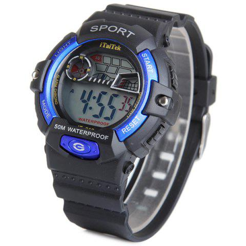 Unique iTaiTek 816 Military LED Watch Date Week Alarm Chronograph Sports Army Wristwatch - BLUE  Mobile